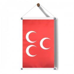 Kırmızı-Üçhilal Bayrak Poster 30x50 cm