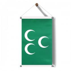 Yeşil-Üçhilal Bayrak Poster 30x50 cm