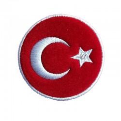 Türk Bayrağı -Nakış Arma (Yuvarlak)