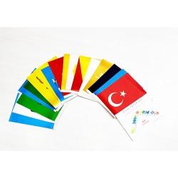 Eski Türk Devletleri Masa Bayrak Seti ( 17'li )
