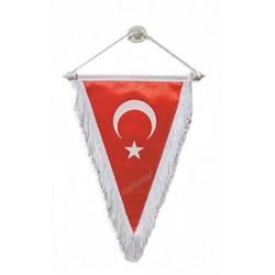 Üçgen Türk Bayrağı 11x18 cm